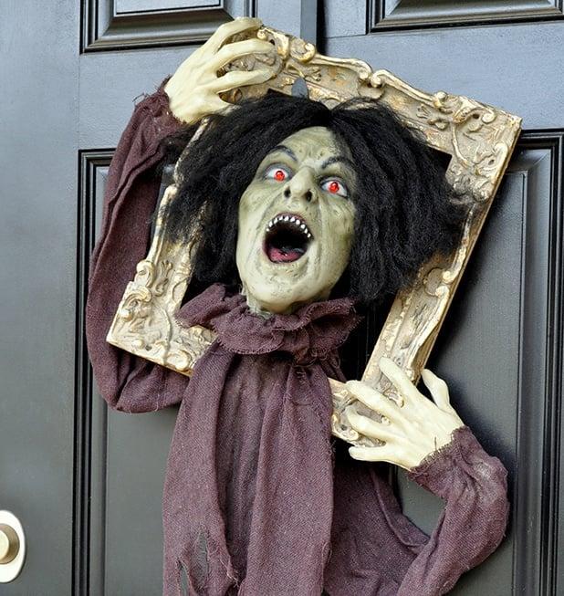 Halloween Zombie Door Hanger Prop