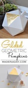 Gilded Geometric Pumpkins 1