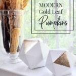 Modern Gold Leaf Pumpkins 1