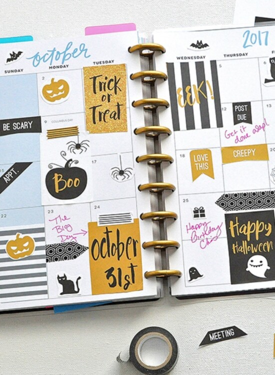 October Halloween FREE Printable Planner Stickers 38