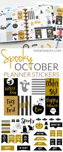 October Halloween FREE Printable Planner Stickers 1
