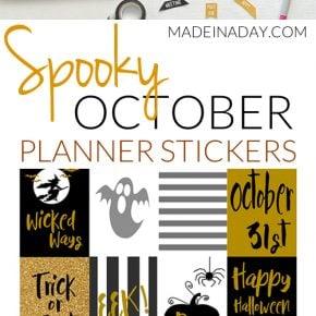 October Halloween FREE Printable Planner Stickers 31
