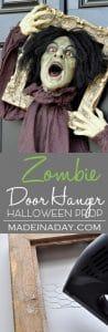 Startling Halloween Zombie Door Hanger Prop 1