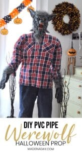 Startling Werewolf PVC Pipe Halloween Prop 1