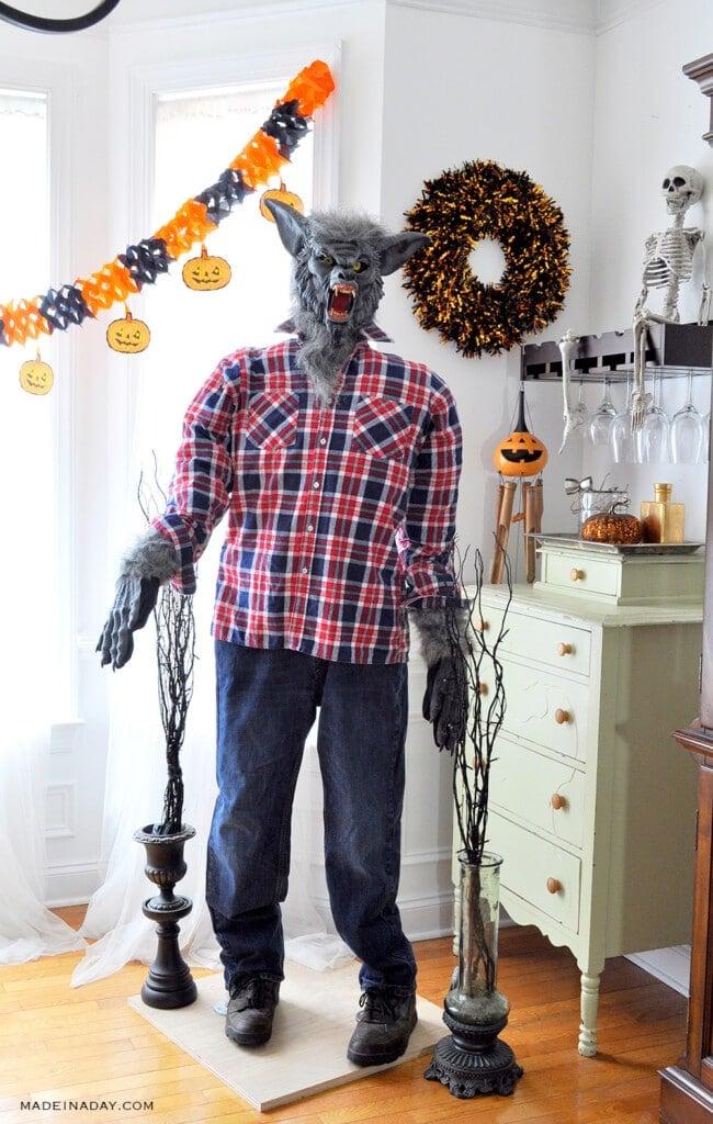 Startling Werewolf PVC Pipe Halloween Prop