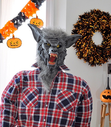 werewolf pvc pipe halloween prop made in a day