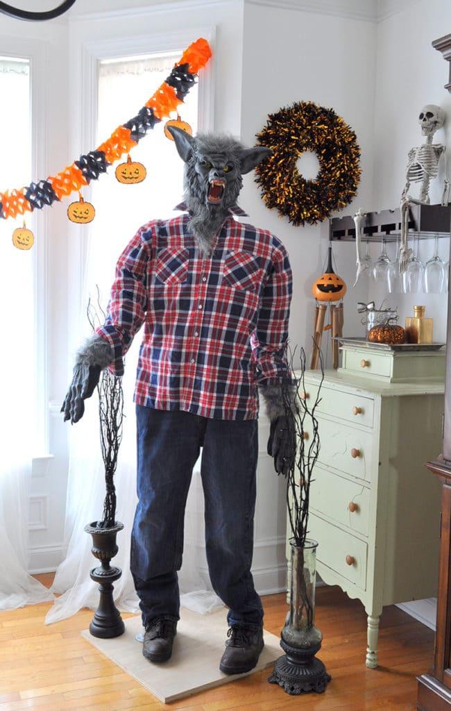 DIY Halloween Werewolf life size prop