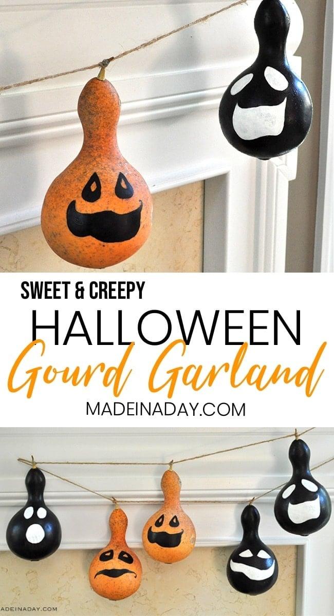 Halloween Gourd Garland, Fall gourd garland