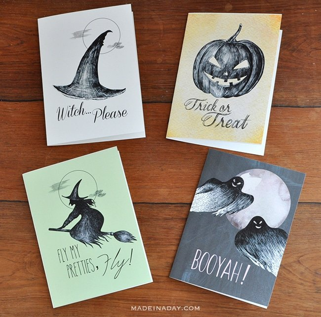 This is a graphic of Mesmerizing Free Printable Halloween Cards