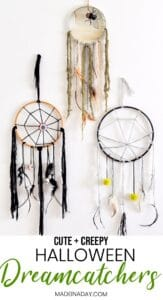 Simple DIY Creepy Halloween Dreamcatchers 1