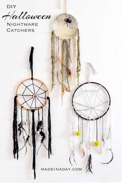 DIY Creepy Halloween Dreamcatchers