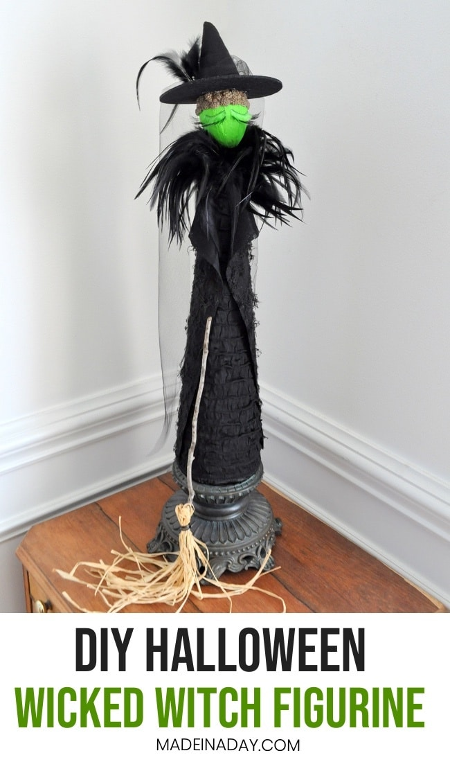 DIY Halloween Witch Figurine, DIY Wicked Figurine, Broadway Wicked Figure