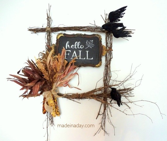Hello Fall Harvest Wreath