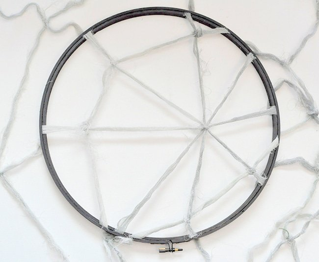 Embroidery hoop spiderweb, cobweb dreamcatcher