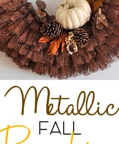 Dazzling Fall Pumpkin Metallic Ribbon Wreath 29