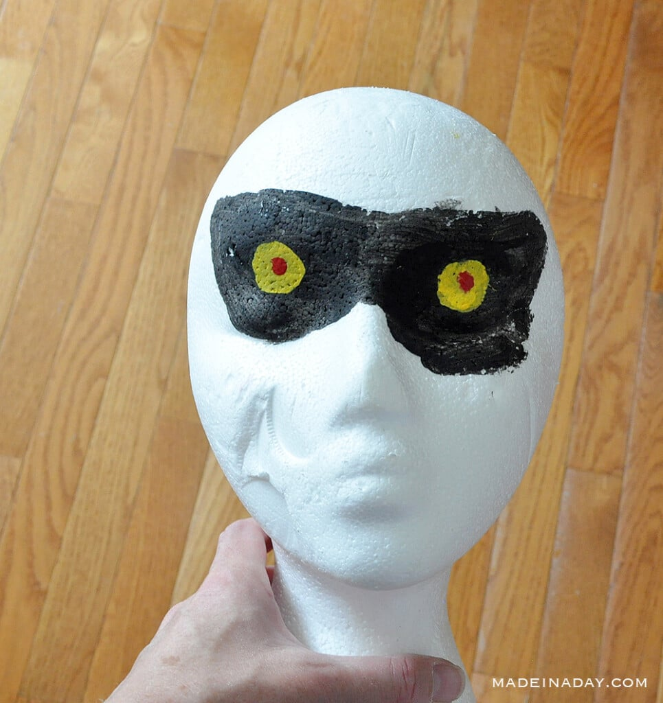 painted foam head for PVC prop