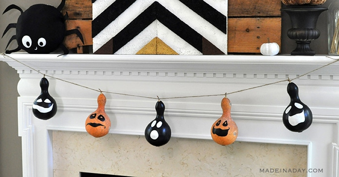 Gourd Halloween decorations