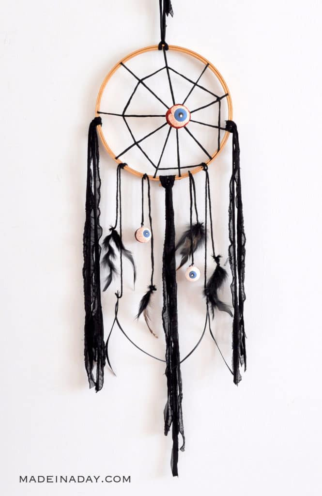 Spiderweb dreamcatcher, eyeball spiderweb dreamcatcher, Eyeball Cobweb Dreamcatcher