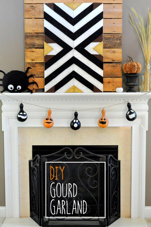Irresistible Halloween Gourd Garland