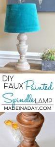 DIY Faux Wood Spindle Lamp 1