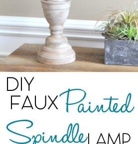 DIY Faux Wood Spindle Lamp 1