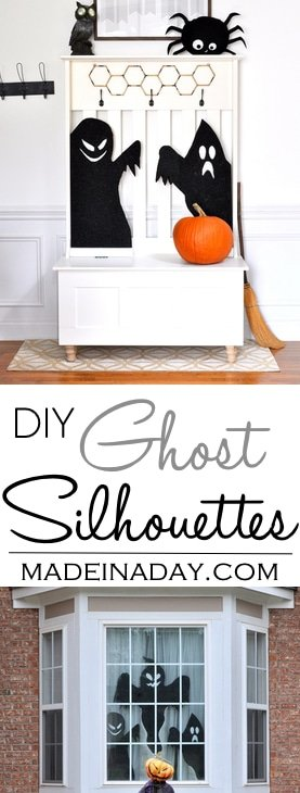 Haunted Halloween Ghost Silhouettes,Haunt your abode with these super easy DIY foam ghost silhouettes! scary spooky, haunted house