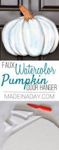 Blue Watercolor Pumpkin Door Hanger Hack 1