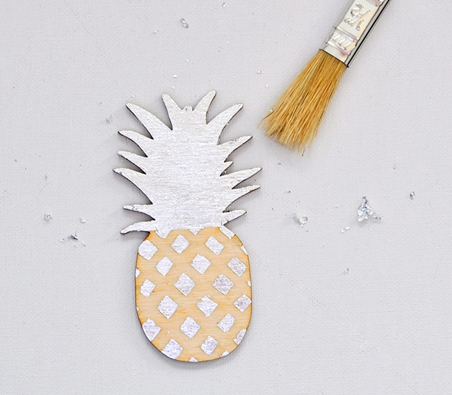 easy gilded pineapple wood ornament