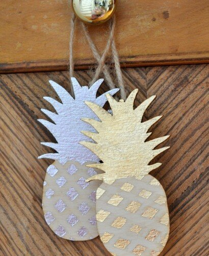 Gilded Pineapple Ornaments 31