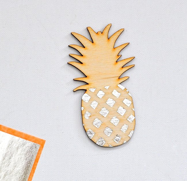silver gilded pineapple ornament