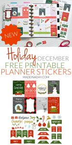 NEW December Christmas Printable Planner Stickers 1