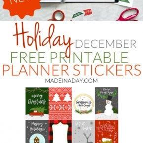 Trendy December Christmas Printable Planner Stickers 1