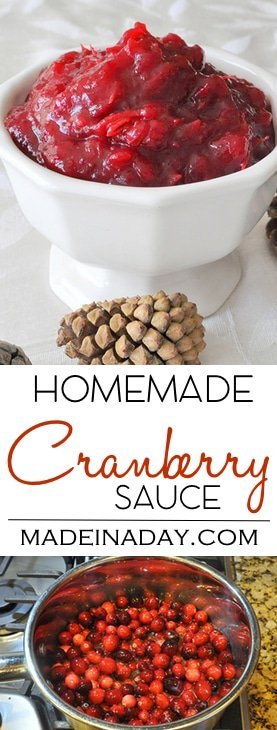 Ditch the Can Homemade Cranberry Sauce, Wow your guests with this #Homemade #Cranberry #Sauce Recipe. #holiday side dish