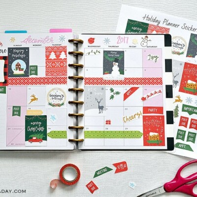 NEW December Christmas Printable Planner Stickers