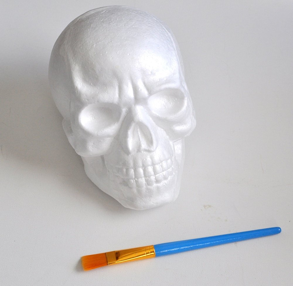 how to guild on a foam skull
