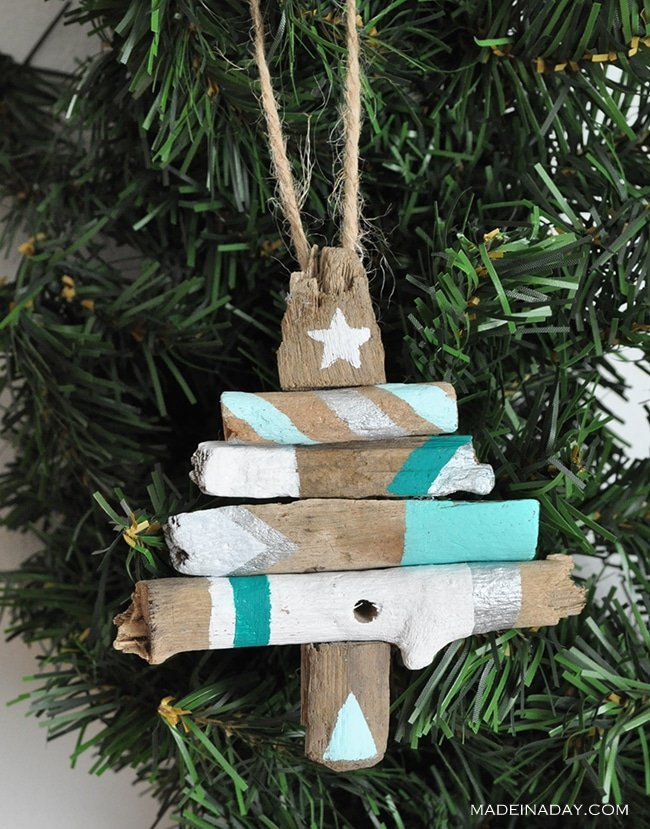 painted-driftwood-tribal-tree-ornament-madeinaday-com