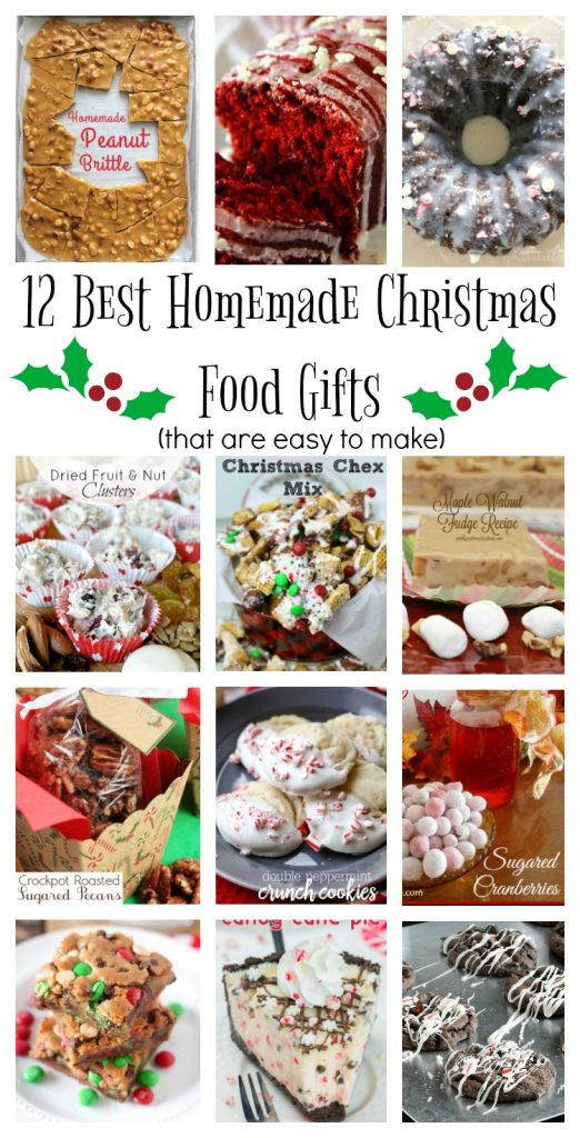 Homemade Edible Christmas Gifts, food gift ideas, gift in a jar, goodies, cookies, candies,
