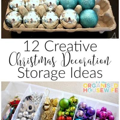 12 Holiday Decoration Organizing Tips