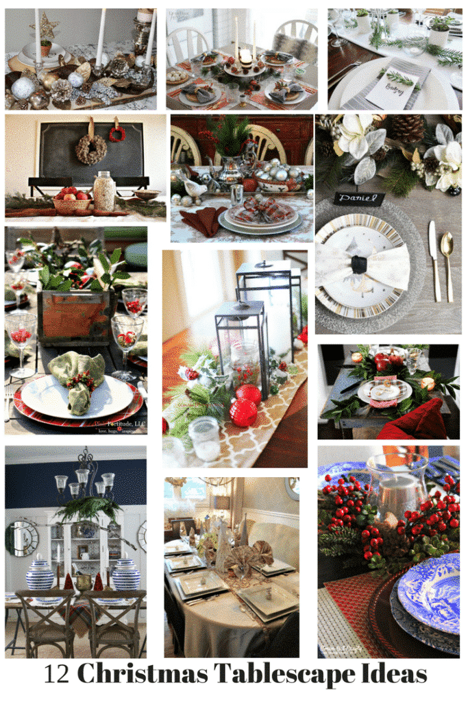 12 Elegant Holiday Tablescapes, black, white, gold farmhouse style and rustic tables for your holiday dinner or parties.
