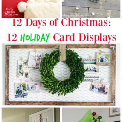 12 Creative DIY Christmas Card Holders