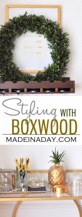 boxwood-wreath-bar-cart-madeinaday-com