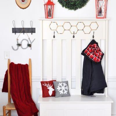 Trendy Holiday Decor: Boxwood Wreath and Lantern Styling