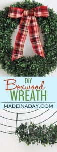 Trendy Holiday Decor: Boxwood Wreath and Lantern Styling 1