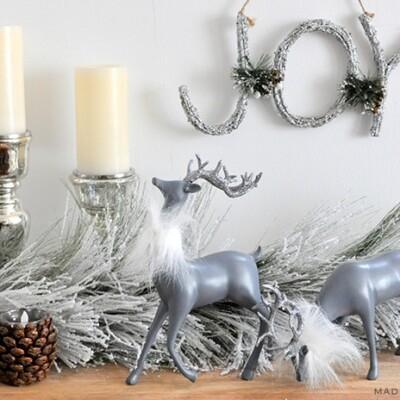 Reindeer Glam Makeover Holiday Decor