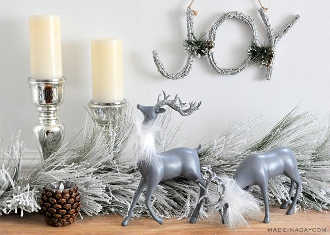 diy-christmas-decor-deer-faux-fur-collars-madeinaday-com