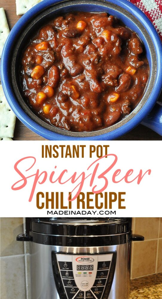 Pressure cooker beer chili recipe, pressure cooker beer chili