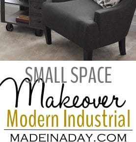 Small Space Makeover with a Mid-Century Modern Industrial Vibe 1