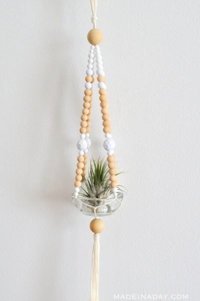 Easy Beaded Macrame Plant Hanger
