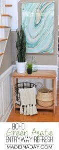 Fresh Entryway Makeover Using Silk Plants 1