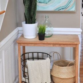 Fresh Entryway Makeover Using Silk Plants 1